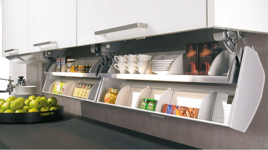 Overhead unit kitchen accessories products hettich for Kitchen trolley designs catalogue