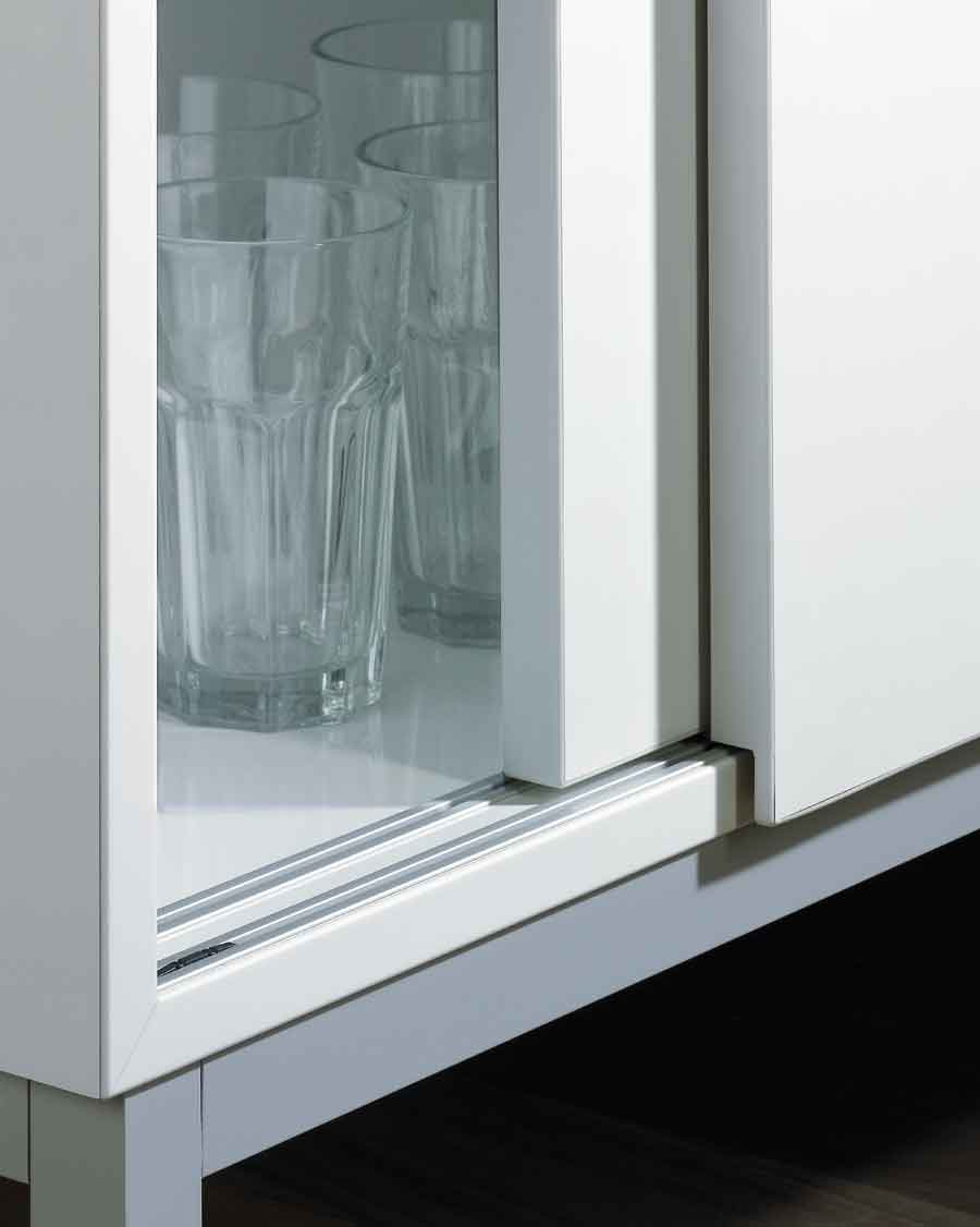 Bottom-running sliding door system