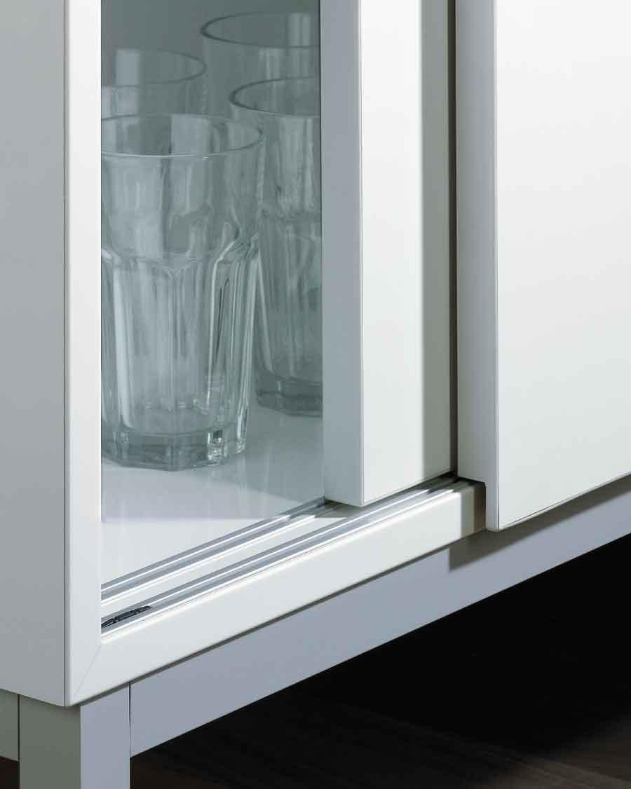Bottom-running sliding door system