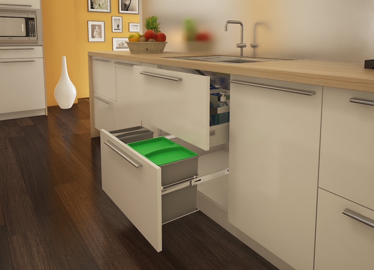 Cargo Pull-Out Bin Holder- for cabinet width 600 mm