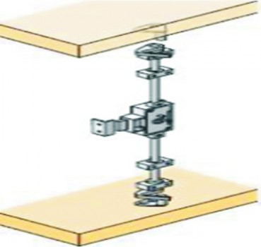 For 18-26 mm Door Thickness, Espagnolette Cabinet Lock