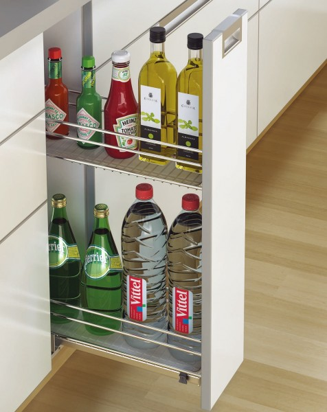 Bottle pull out for cabinet 200mm hettich india pvt ltd for 200mm kitchen wall unit