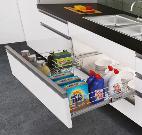 organizer shelf sink under clever drawers min storage house microabode tiny solutions drawer