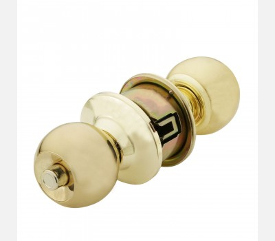 Hettich Polished Brass cylindrical knob HCK 02 for Room door