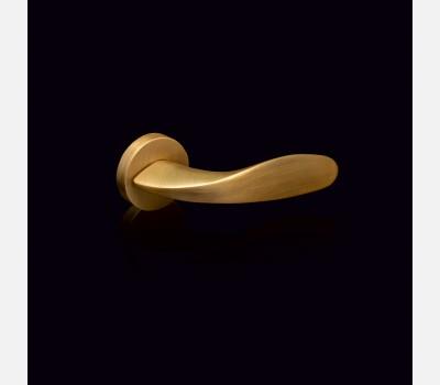 Hettich Prolock Luxury Collection Handle - Leaf - Matt Antique Brass Finish