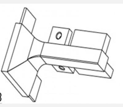 Gola Profile L Connector Outer  Zinc