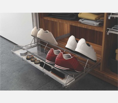Cargo Pull Out Shoe Rack ( Horizontal) for 600mm Cabinet Width with accessory plate