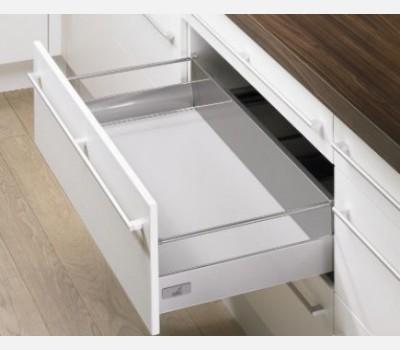 Hettich Innotech 520 mm Pot & Pan Drawer Set, Silver, 30 Kg
