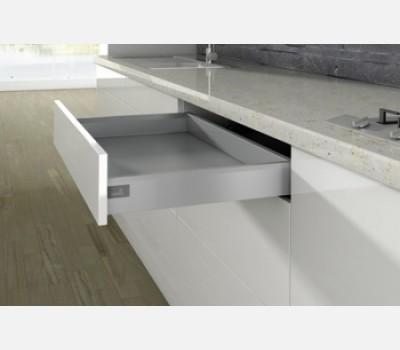 Hettich ArciTech 550 mm  Drawer Set, Silver, 60 Kg, 94 mm