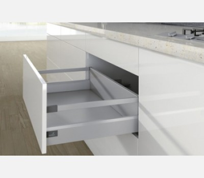 Hettich ArciTech 550 mm Pot & Pan Drawers Set with 186 mm Railing, Silver, 40 Kg