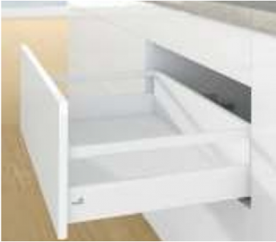 ArciTech White 450 mm pot & pan with railing, Height 186 mm, 60 kg