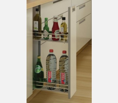 Cargo iq 300 bottle pull out base unit kitchen for 200mm kitchen wall unit