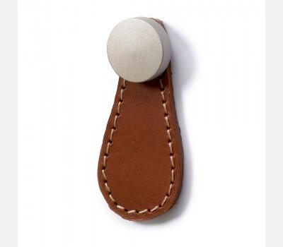 Hettich Folk Light Brown Leather Knob