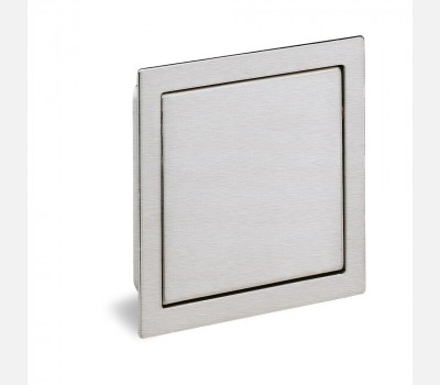 Hettich Modern Stainless steel look Cabinet Handle, 80 mm